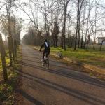 ciclabile Treviso-Ostiglia in inverno